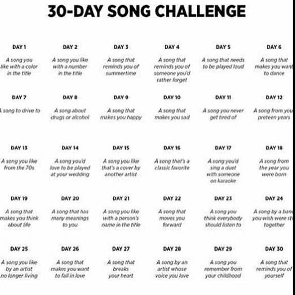 30 day song challenge 1 10 erin go blog